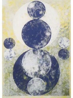 Ausmittelung, 2019, Linoldruck auf Digitaldruck, 42 x 29,7 cm